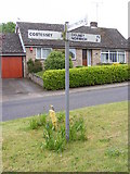 TG1508 : Roadsign in Bawburgh by Geographer