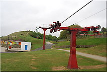 TA0390 : Old chair lift, North Bay by N Chadwick