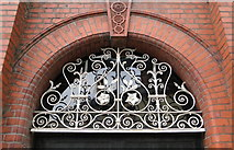 SO2956 : Ironwork, Kington Market Hall by Philip Pankhurst
