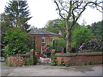 SJ8588 : Gate to Mill House, Mill Lane, Cheadle by Robin Stott