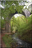 SK1373 : Viaduct over the River Wye by Trevor Harris