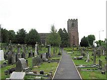SJ8959 : North side of St. Lawrence's Church by Jonathan Kington