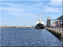 NT2677 : Ocean Terminal, HMY Britannia by David Dixon