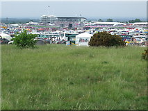 TQ2257 : Epsom Downs on Derby Day by Malc McDonald