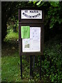 TM2368 : St.Marys Church Notice Board, Worlingworth by Adrian Cable