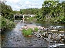 NU2304 : Footbridge over the River Coquet, Warkworth by Humphrey Bolton