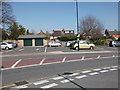 SP2871 : Rear of properties in Southbank Road, seen from Abbey End car park, Kenilworth by John Brightley