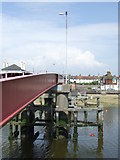 TQ0202 : Bridge supports, Littlehampton by Malc McDonald