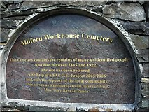 C2025 : Milford Workhouse Cemetery Plaque by Kenneth  Allen