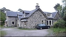 NM6691 : View of Garramore House from the entrance drive, Morar by Anthony O'Neil