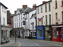 SO2956 : Kington High Street - Upper Cross end by Philip Pankhurst