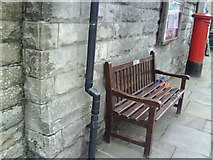 SD8789 : Hawes, Market House benchmark by Roger Templeman