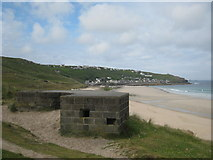 SW3526 : Pillbox beside the coastal path by Rod Allday