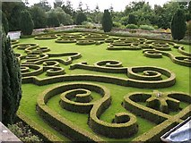 NS7353 : Chatelherault: the parterre by Lairich Rig
