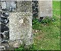 TL7199 : Christ Church in Whittington - benchmark by Evelyn Simak