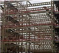 SK4292 : Steel structure for the new Rotherham Metropolitan Borough Council offices by Steve  Fareham