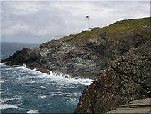 SW8576 : Lighthouse at Trevose Head by Val Pollard