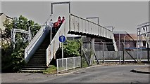 NS2982 : Footbridge across the railway near Helensburgh Central by Anthony O'Neil