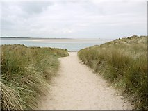 NU1535 : Path through the dunes from Heather Cottages by Andrew Curtis