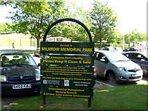 SD9311 : Milnrow Memorial Park - Car Park by David Dixon