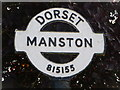 ST8115 : Manston: detail of finger-post finial by Chris Downer