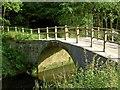 SE4006 : The destroyed (sorry restored) packhorse bridge over the River Dearne by Steve  Fareham