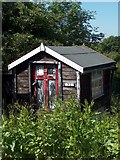 SK3583 : Neglected allotment hut adjacent to Meersbrook Park by Neil Theasby