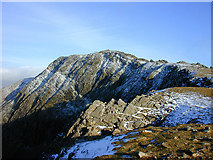 SH7013 : The summit of Cadair Idris, from the west by Nigel Brown