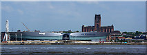 SJ3489 : The Echo Arena and the Anglican Cathedral by Ian Greig