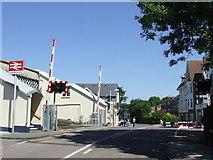 TQ1572 : Strawberry Hill level crossing by Malc McDonald