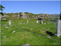 NM2824 : Reilig Odhrain (St Oran's Burial Ground) by Euan Nelson