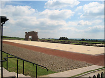 SJ5608 : Wroxeter Roman City viewed from entrance by John Firth