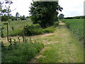 TM3470 : Footpath junction of the footpath to Heveningham Long Lane & Mill Road by Adrian Cable