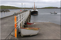 HU3635 : Pier at Hamnavoe by Mike Pennington