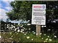 H2799 : Notice beside the Deele River by Kenneth  Allen