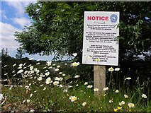 H2799 : Notice beside the Deele River by Kenneth  Allen