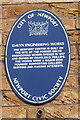 ST3187 : Blue plaque, Newport Centre by Jaggery