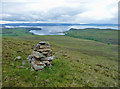 NG4165 : Cairn on the western slope of Beinn Gorm by John Allan