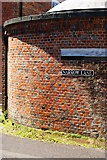 SU3521 : Wall on Narrow Lane, Romsey, Hampshire by Peter Trimming