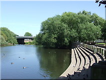 SK3536 : Riverside steps, Derby by Malc McDonald