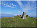 NG1554 : Trig point on Biod an Athair by John Allan