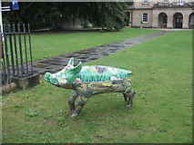 ST7565 : Pig by the Museum Path by David Roberts