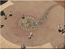 SZ0891 : Bournemouth: The Square paving from above by Chris Downer