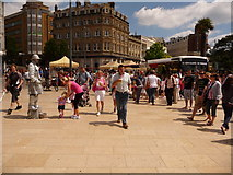 SZ0891 : Bournemouth: the silver man in The Square by Chris Downer