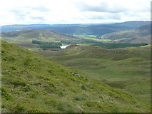 NO0569 : Looking down the blaeberry covered slopes of Sròn Charnach by Russel Wills