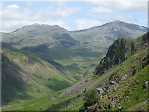 NY2101 : Esk Valley towards Yew Crags by Glyn Drury