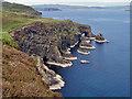 NG2537 : Caves, sea stacks and natural arches by Richard Dorrell