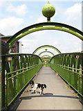 SJ8297 : Woden Street Footbridge by Jonathan Wilkins