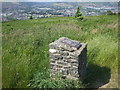 ST1585 : Small stone pillar, Caerphilly Common by John Lord