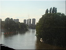 TQ1977 : View of the Thames from Kew Bridge by Robert Lamb